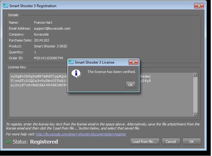 License Key Registration